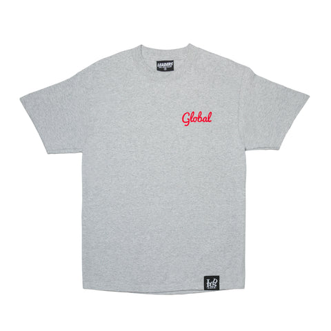 Global Not Local Tee Grey