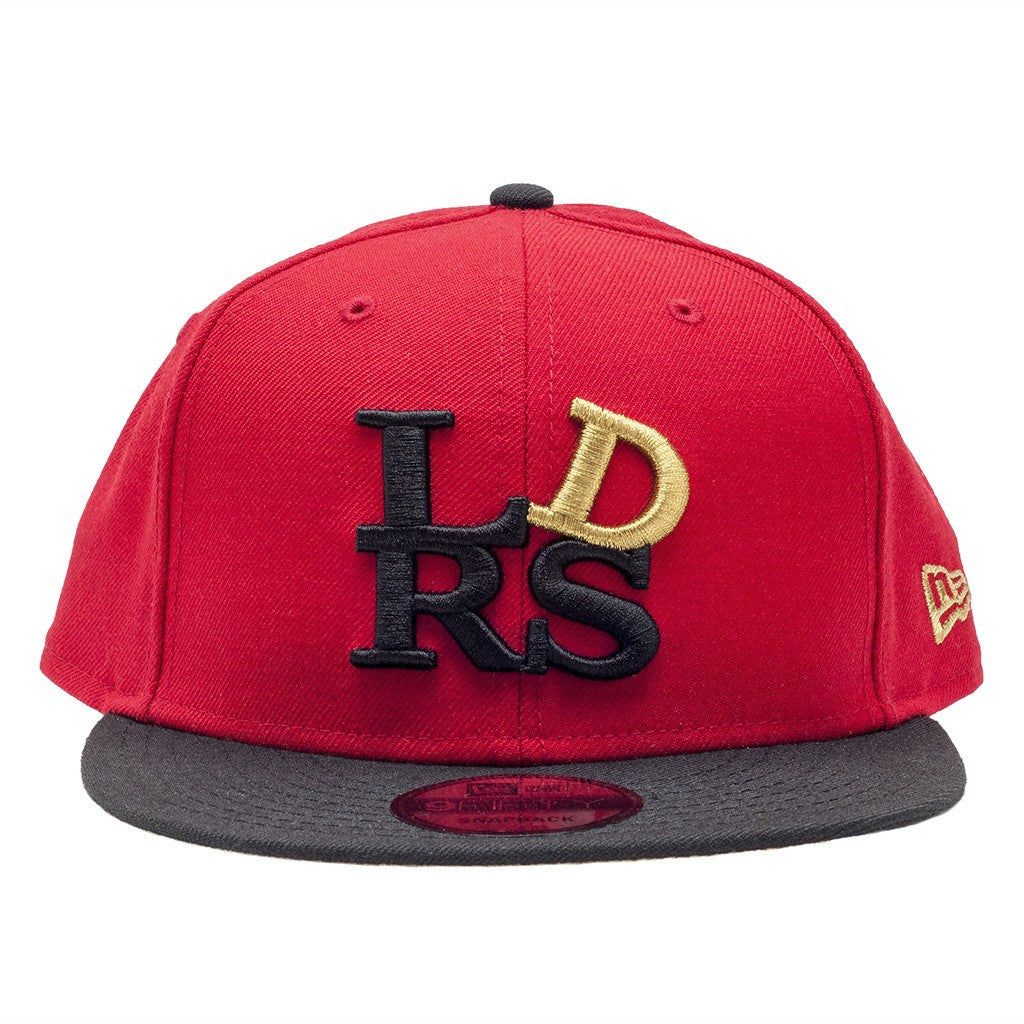 Leaders OG Block Logo Red Black Gold Snapback