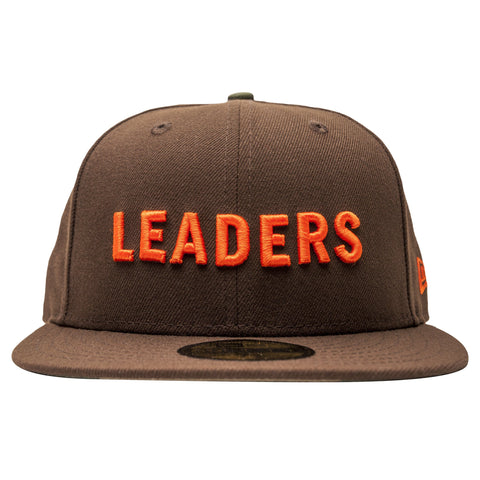 Leaders Block Logo Brown/Orange Fitted