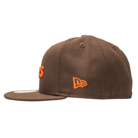Leaders Block Logo Brown/Orange Fitted - leaders1354