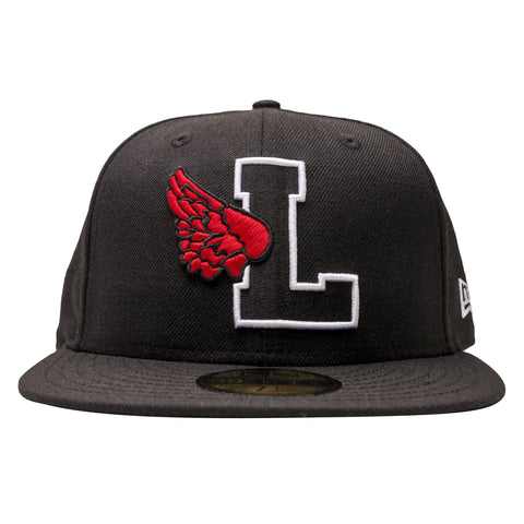 Leaders L Wing Logo Red/Black Fitted