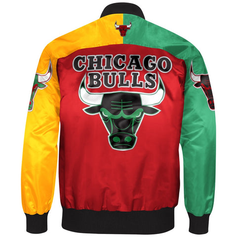 Chicago Bulls Starter X Ty Mopkins  Black History Month Jacket