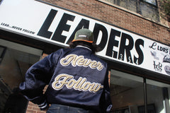 Leaders 1354 Satin Varsity Jacket