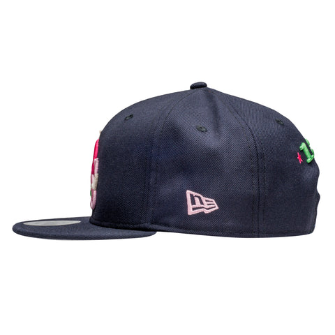 Leaders Interlock Logo Navy Multi-Color Snapback - leaders1354