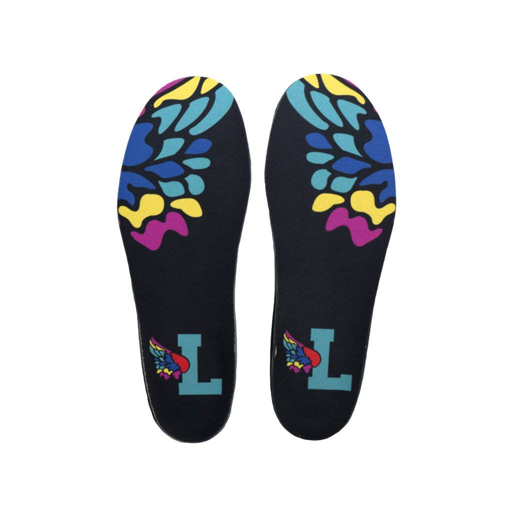 L Wing Black Shoe Insoles