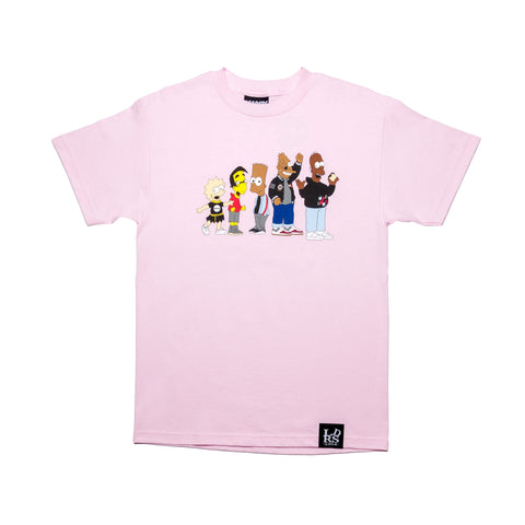 LDRSxMade Collab Tee Pink - leaders1354