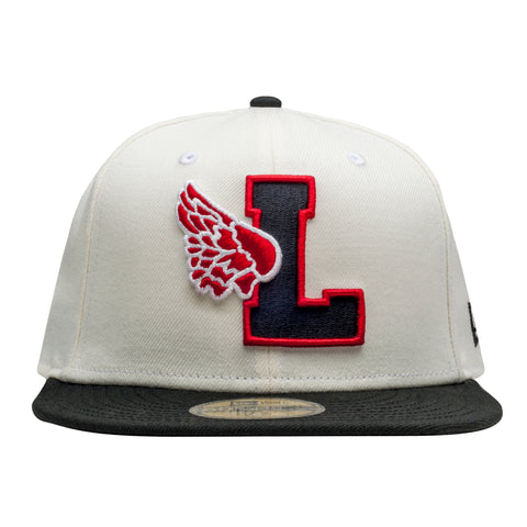 Leaders L Wing Logo Off White Fitted - leaders1354