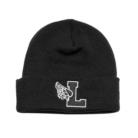 Leaders Black L Wing Beanie - leaders1354