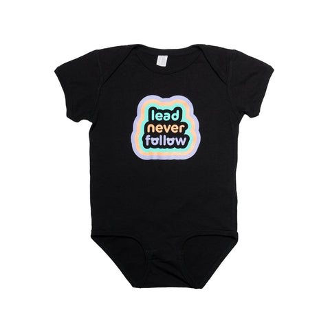 LDRS1354 X KIDOCHICAGO Black Onesie - leaders1354