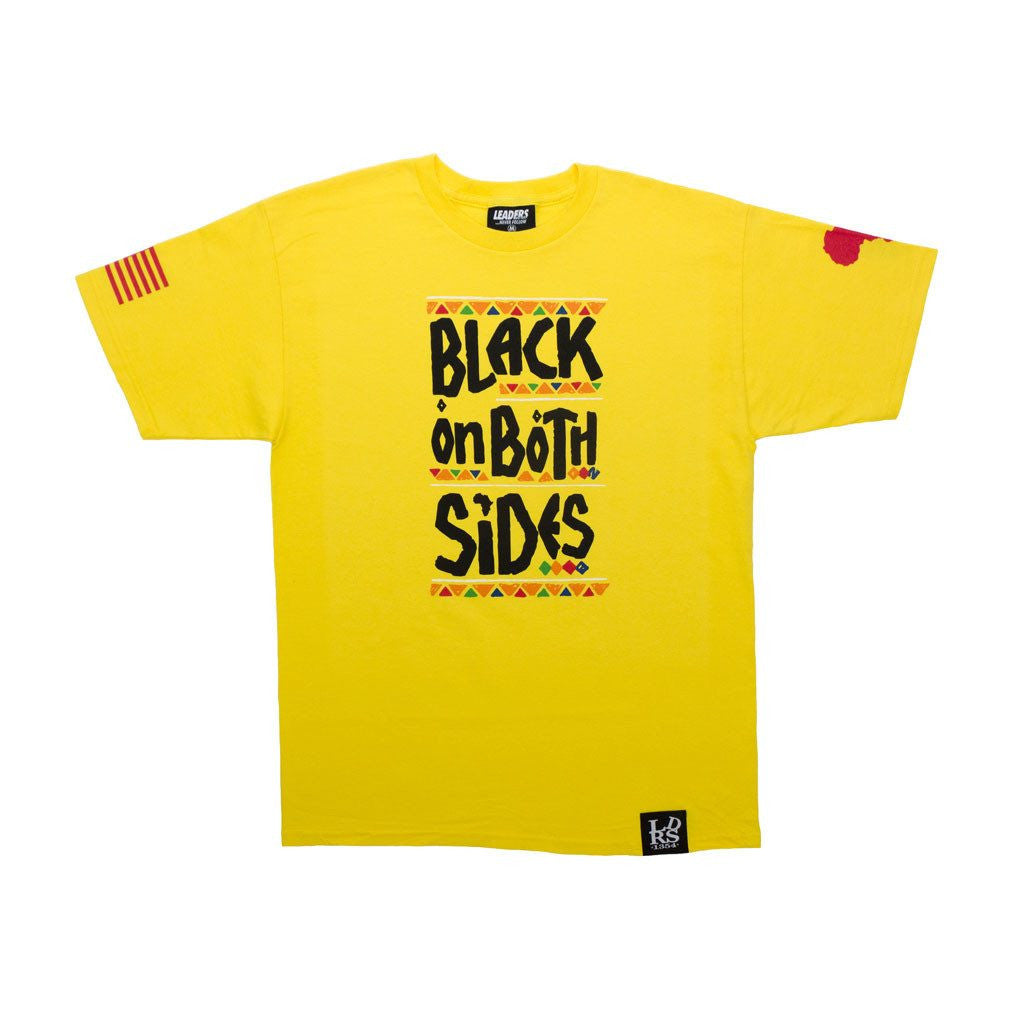 Leaders Black on Both Sides Tee Yellow