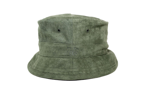 Suede Olive Bucket - leaders1354