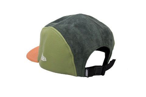 Leaders Green Suede 5 Panel Hat