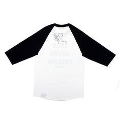 Lead Never Follow Raglan White/Black - leaders1354