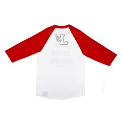 Lead Never Follow Raglan White/Red/Black - leaders1354