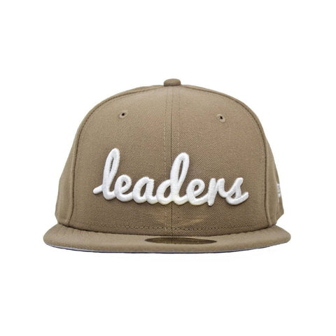 Leaders Leaders Cursive Tan Fitted - leaders1354