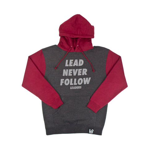 Lead Never Follow 3M Charcoal/Burgundy - leaders1354