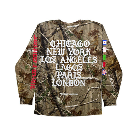 Leaders Not Kanye Font Long Sleeve Tree