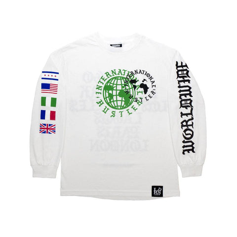 Leaders Not Kanye Font Long Sleeve White