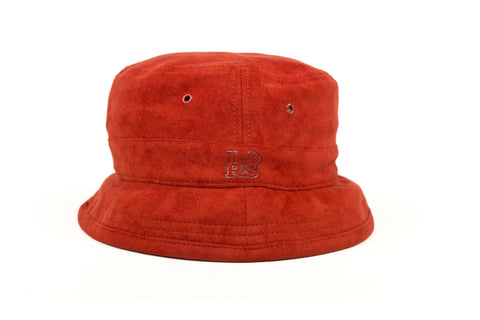 Red Suede Bucket Hat