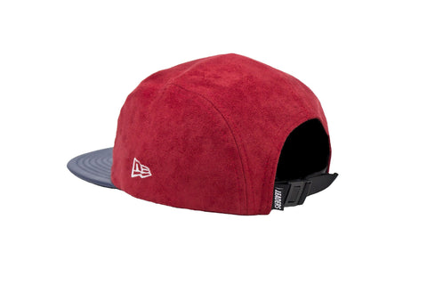Leaders Red Suede 5 Panel Hat