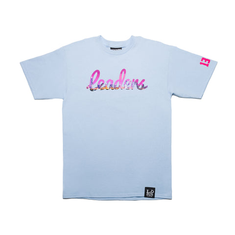 Welcome To Chicago Cursive Tee Sky - leaders1354
