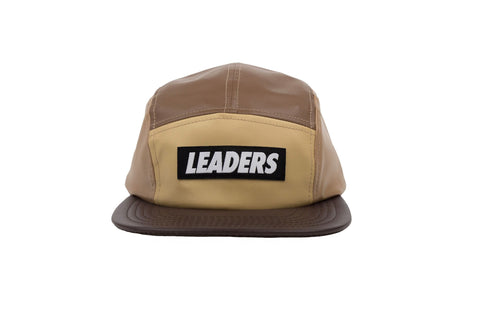 Leaders Tan Nylon 5 Panel Hat