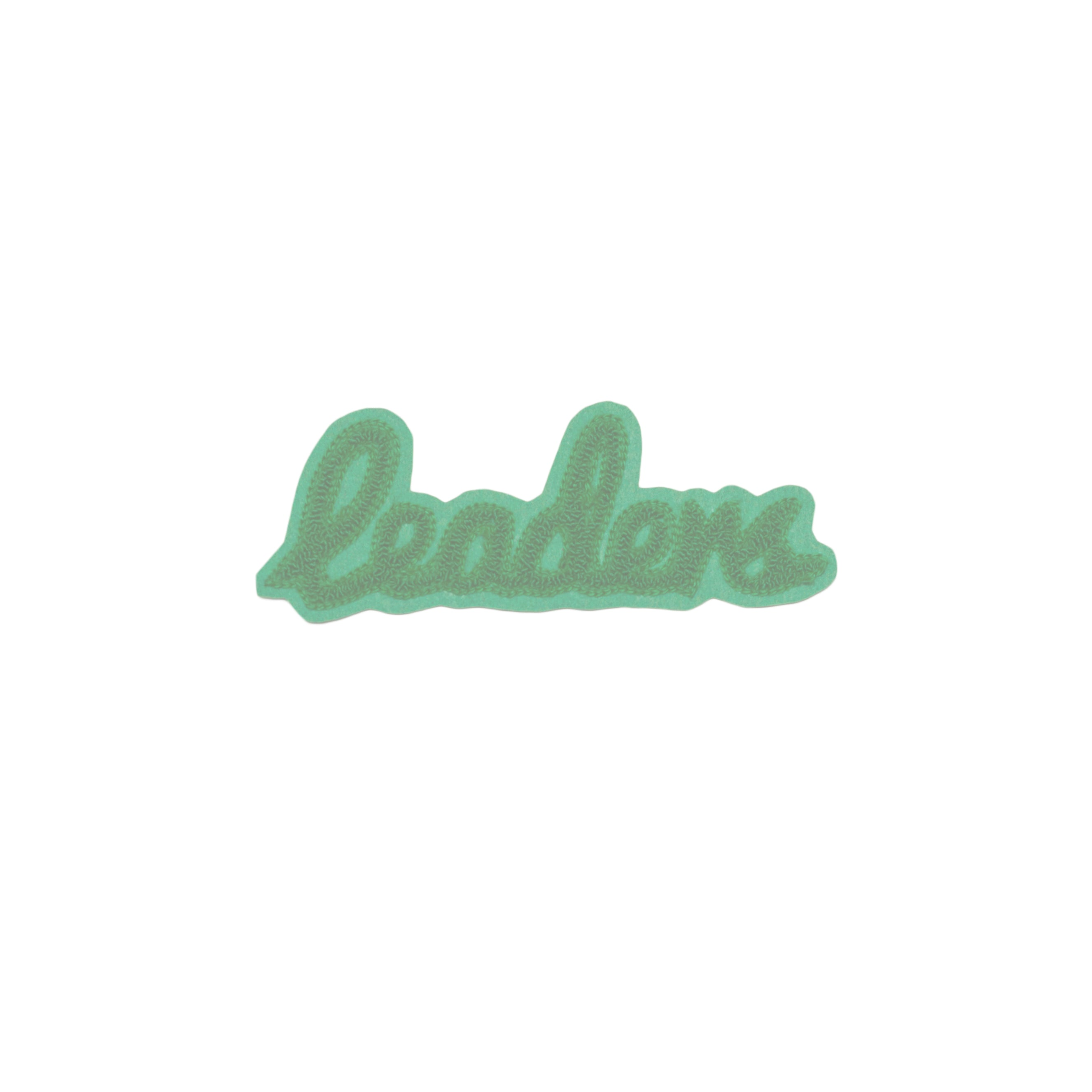 Small Cursive Patch Green