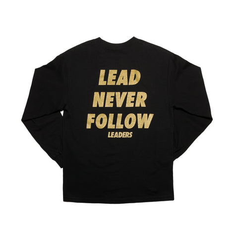 Malcom X L/S Tee Black - leaders1354