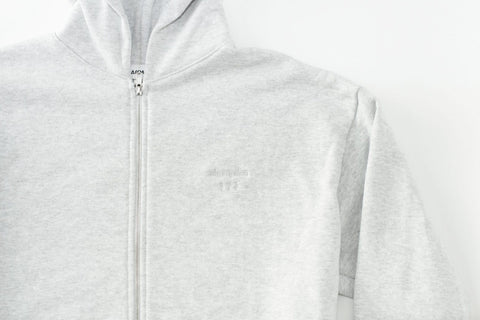 Love Over Fear Embroidered Grey Zip Up Hoodie