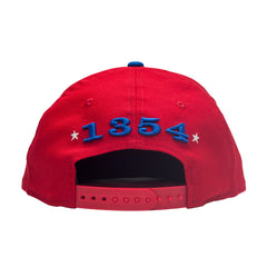Leaders Red and Blue Cursive Snapback - leaders1354