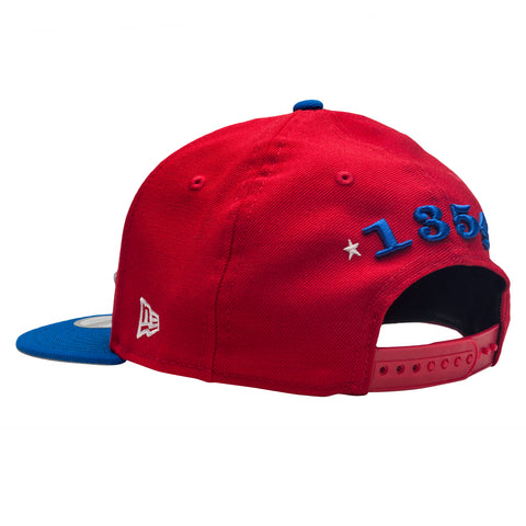 Leaders Red and Blue Cursive Snapback