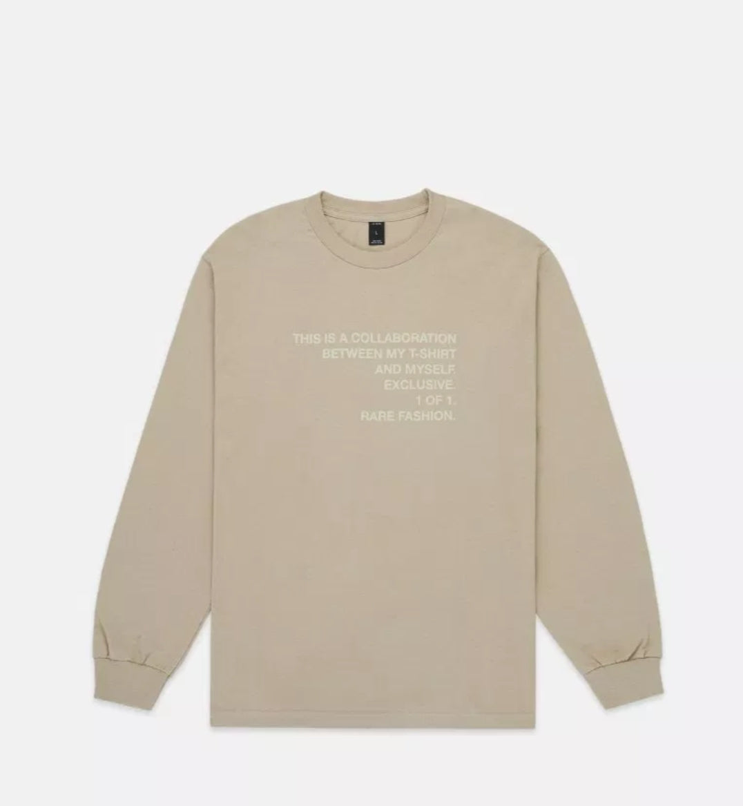 Collab L/S Tee Sand - leaders1354