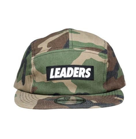 Camo Five Panel Canvas Camper - leaders1354