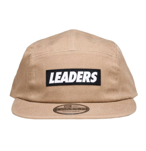 Khaki Five Panel Canvas Camper - leaders1354