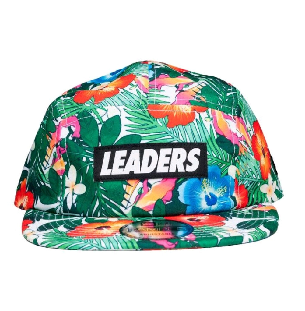 White Floral Five Panel