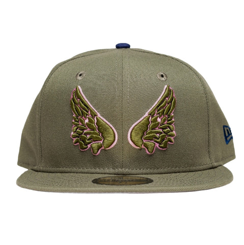 Wings Olive/Pink/Navy Fitted