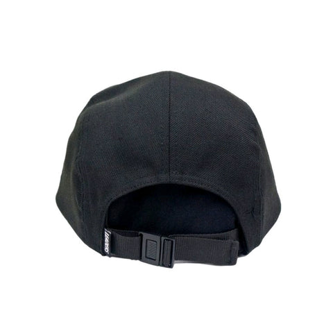 Wool Five Panel Black - leaders1354