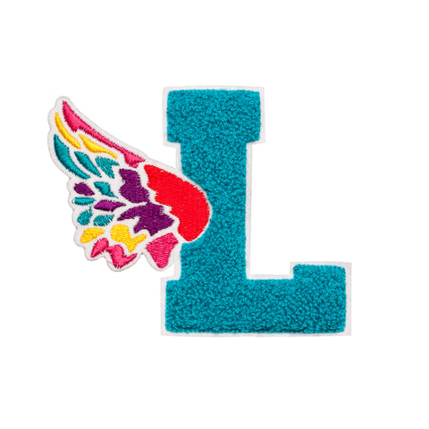 Teal L Wing Patch