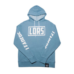 """Box Logo"" Misty Blue - leaders1354"