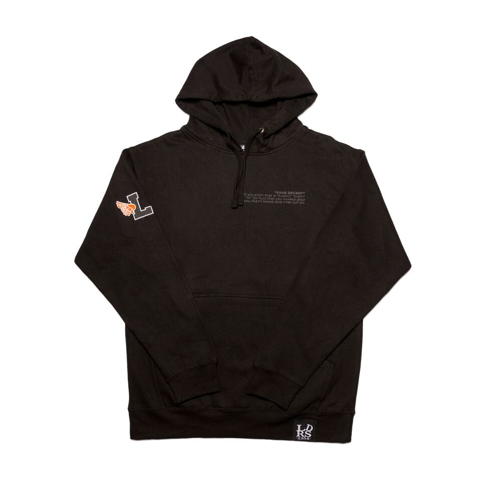 Leaders X Fake Decent Black Hoody - leaders1354