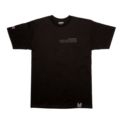 Leaders X Fake Decent Black Tee - leaders1354