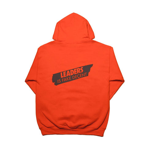 Leaders X Fake Decent Hoody Orange - leaders1354