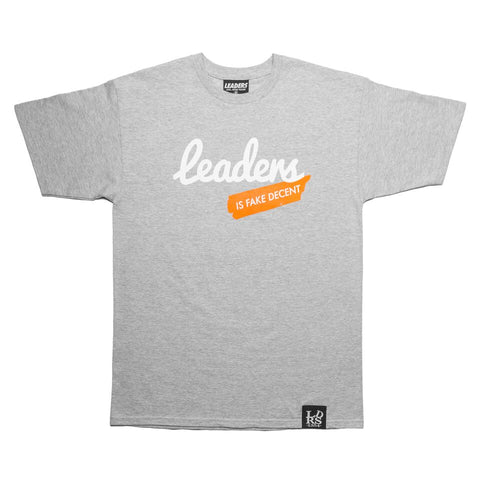 Script Leaders X Fake Decent Tee Grey