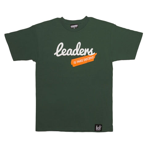 Script Leaders X Fake Decent Tee Forest Green