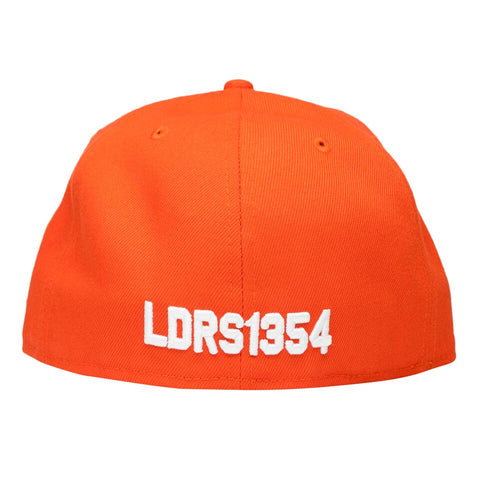 Leaders X Fake Decent Fitted Hat Orange - leaders1354