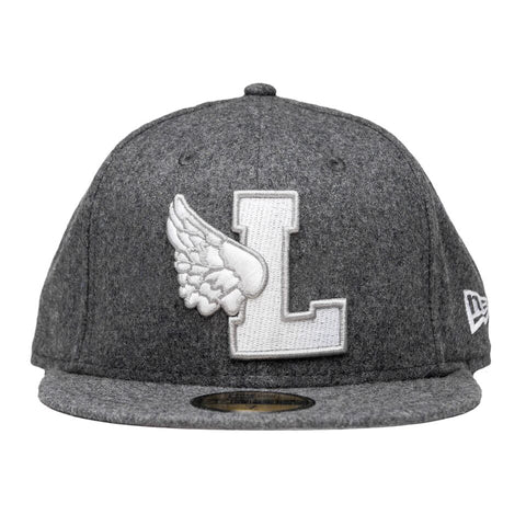 Leaders L-Wing Grey Wool Fitted Hat - leaders1354