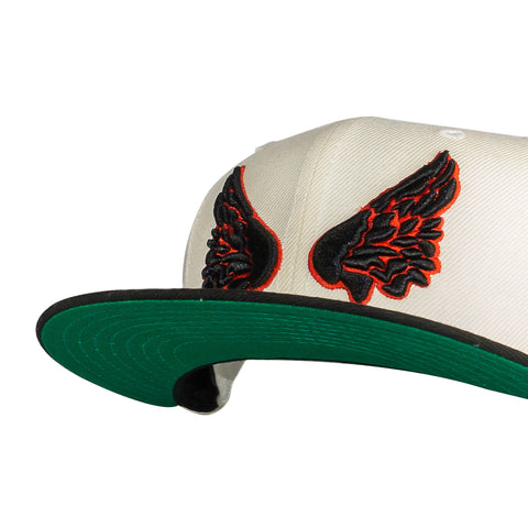 'Wings' Cream/Black/Red Fitted Hat