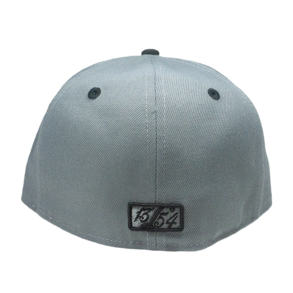 Charcoal/ Black Cursive Fitted Hat