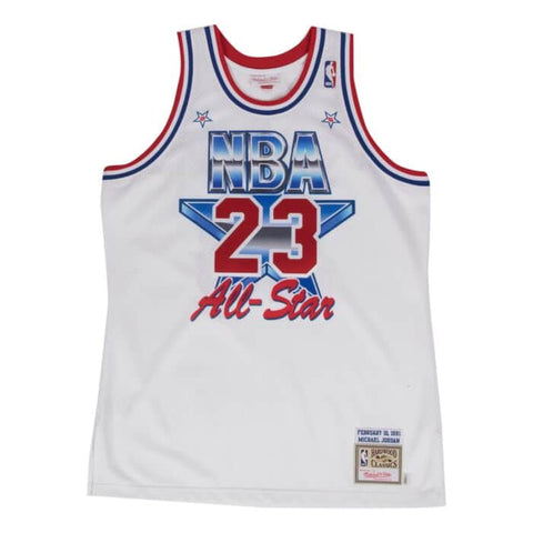 Michael Jordan Authentic  1991 All-Star Jersey White - leaders1354