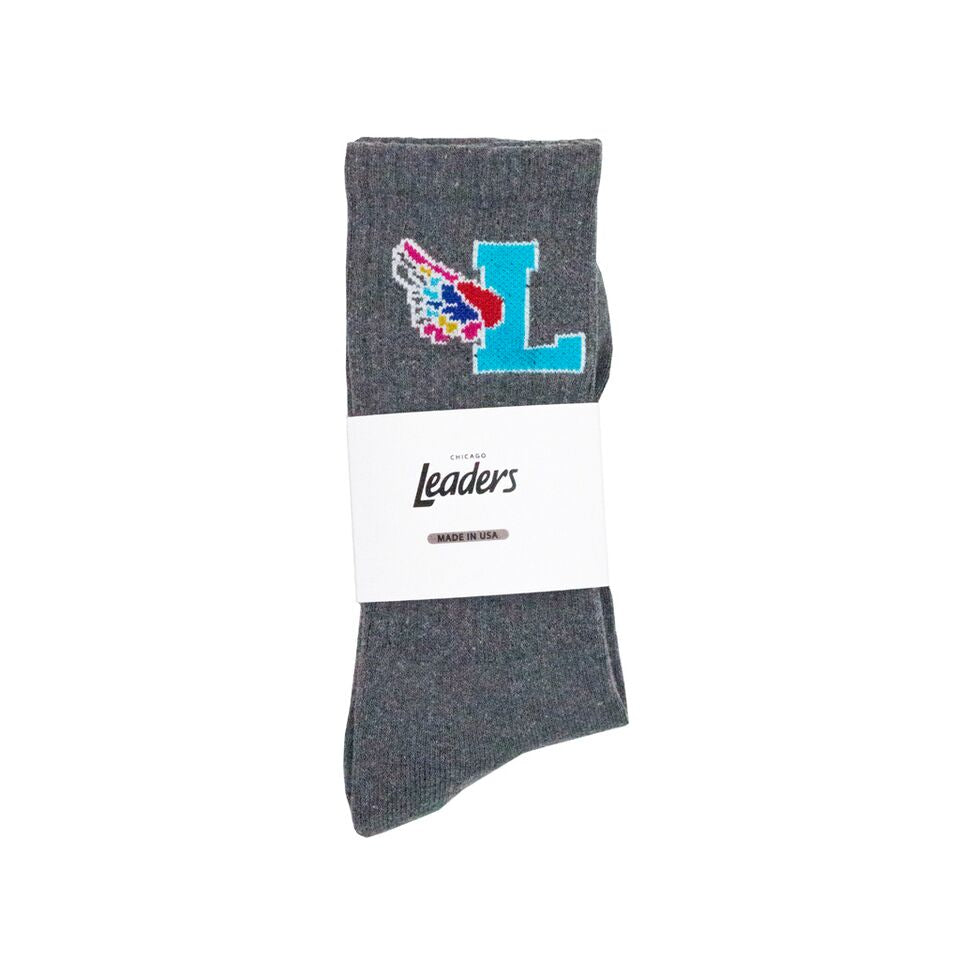 LDRS L-Wing Socks Grey - leaders1354